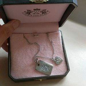 JUICY COUTURE DOG TAG STYLE NECKLACE!